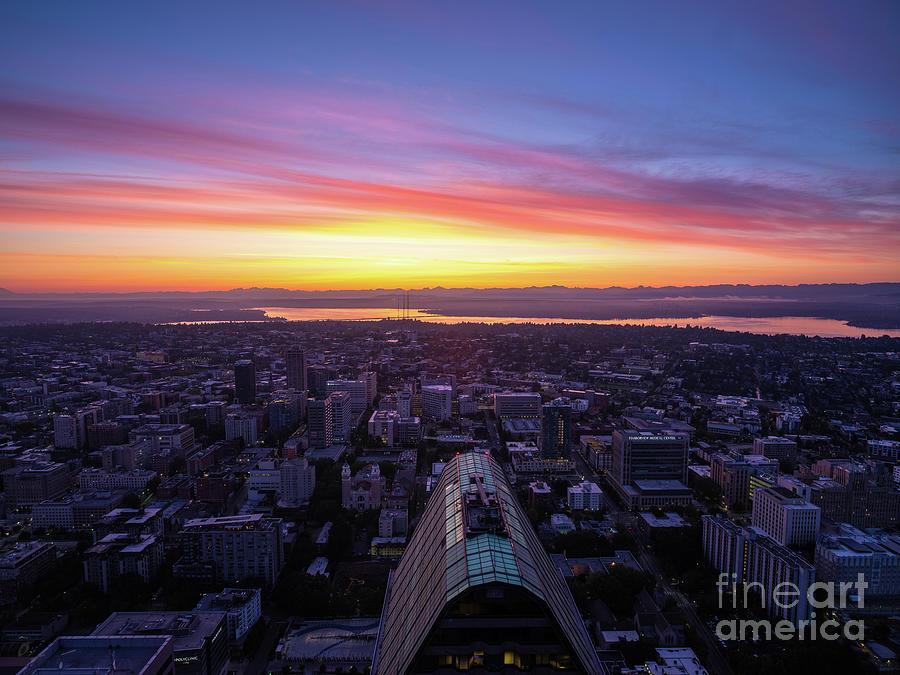 Seattle To Bellevue To Kirkland Sunrise Photograph