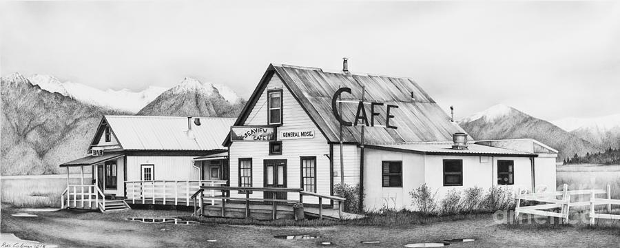 Seaview Cafe Drawing by Ross Coleman