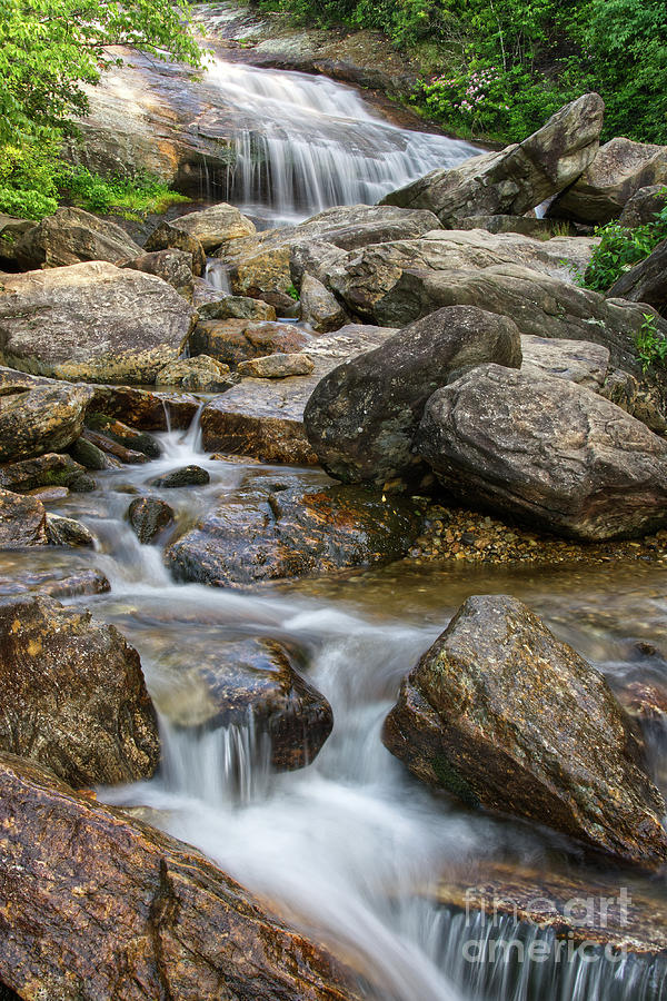 Blue Ridge Parkway Photograph - Second Falls 8 by Phil Perkins
