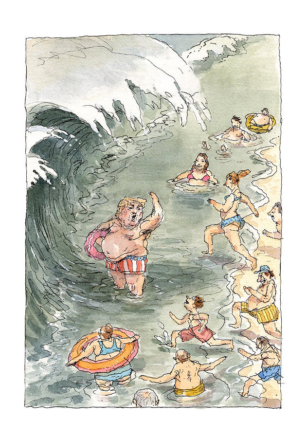 Second Wave Painting by John Cuneo