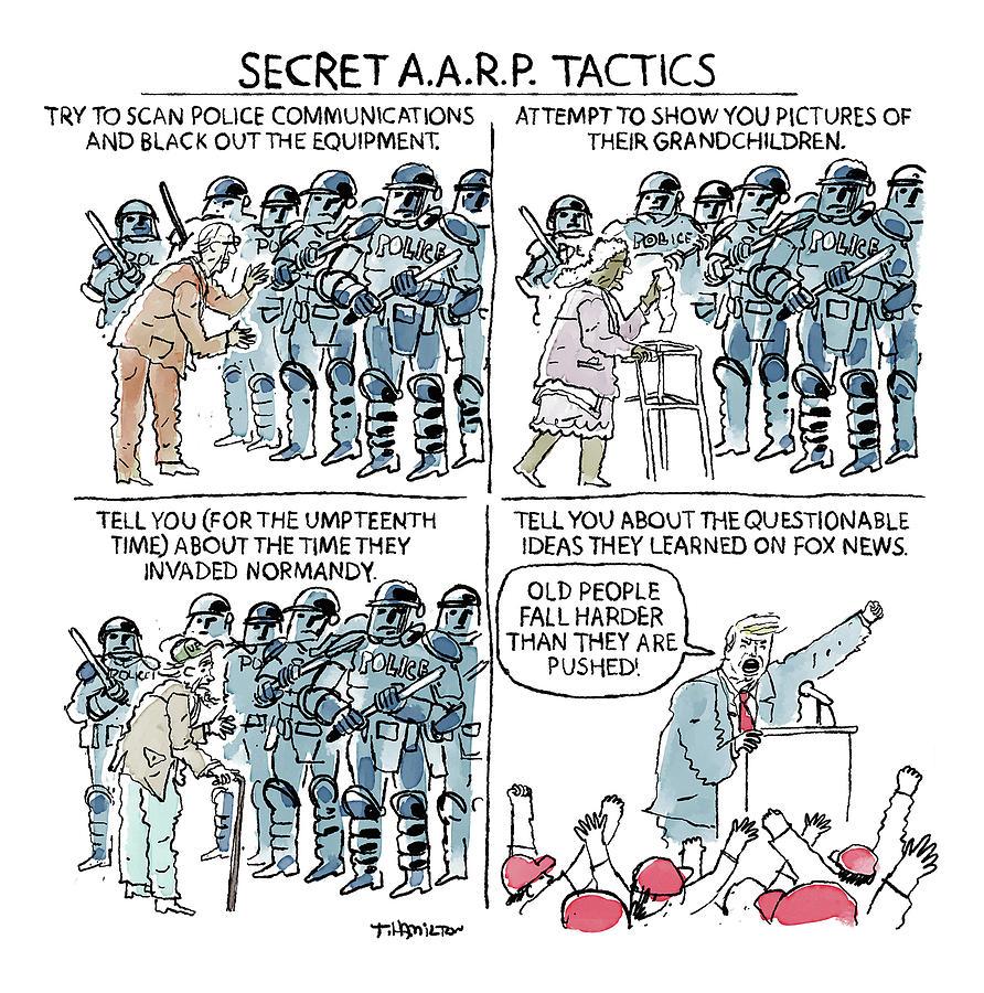 Secret A.A.R.P. Tactics Drawing by Tim Hamilton