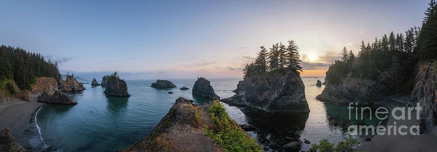 Secret Beach Panorama Sunset by Michael Ver Sprill
