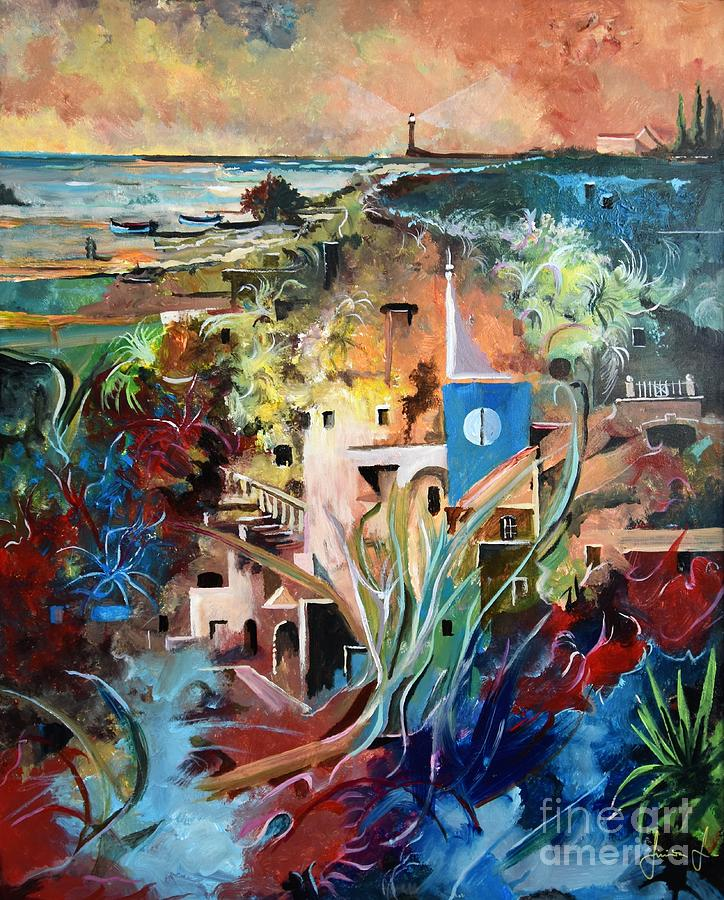 Abstract Painting - Secret Cove by Sinisa Saratlic