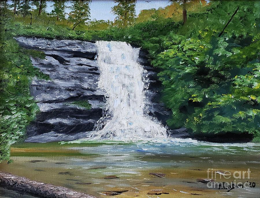 North Carolina Waterfalls Painting - Secret Falls II by Stanton Allaben