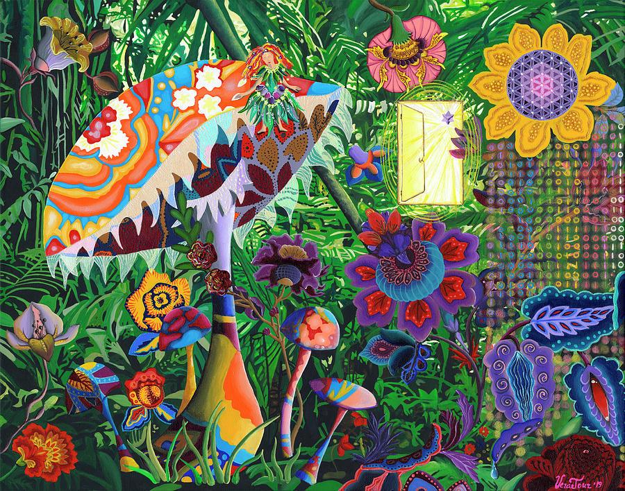 Garden Painting - Secret Garden by Vera Tour