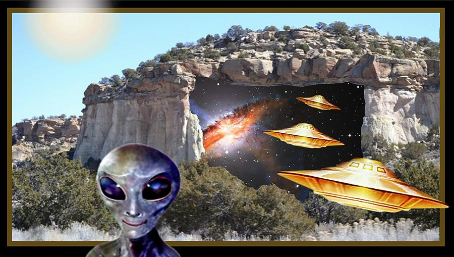 Secret Stargate Mixed Media