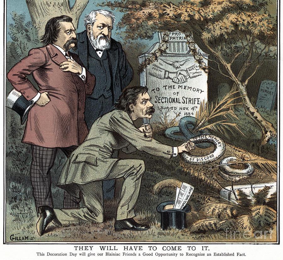 Sectionalism Cartoon, 1885 by Bernhard Gillam