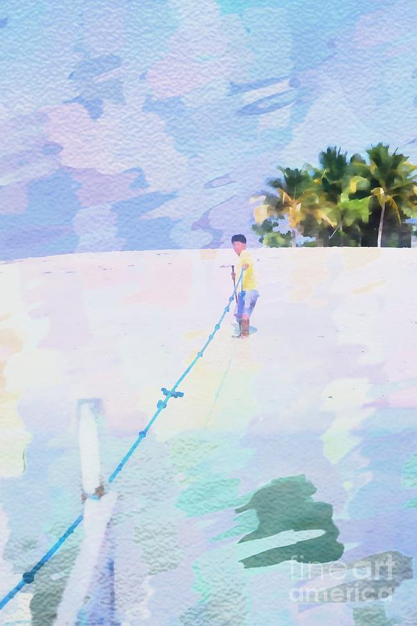 Securing The Rope Digital Art