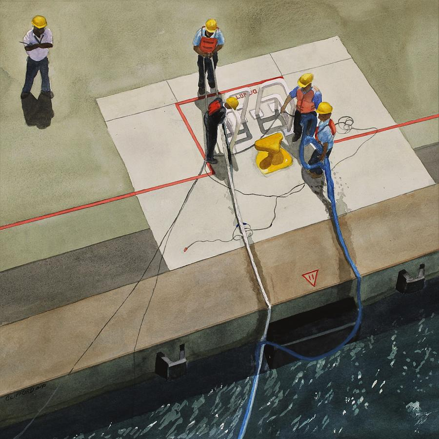Dock Painting - Securing the Ship by Cory Clifford