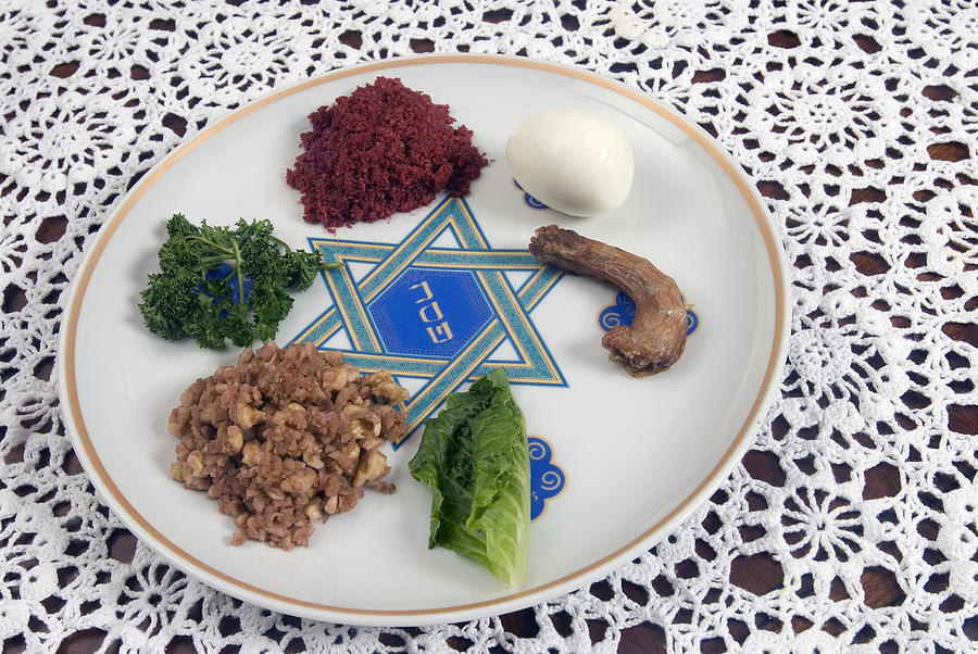 Seder Plate Photograph by Leland Bobbe