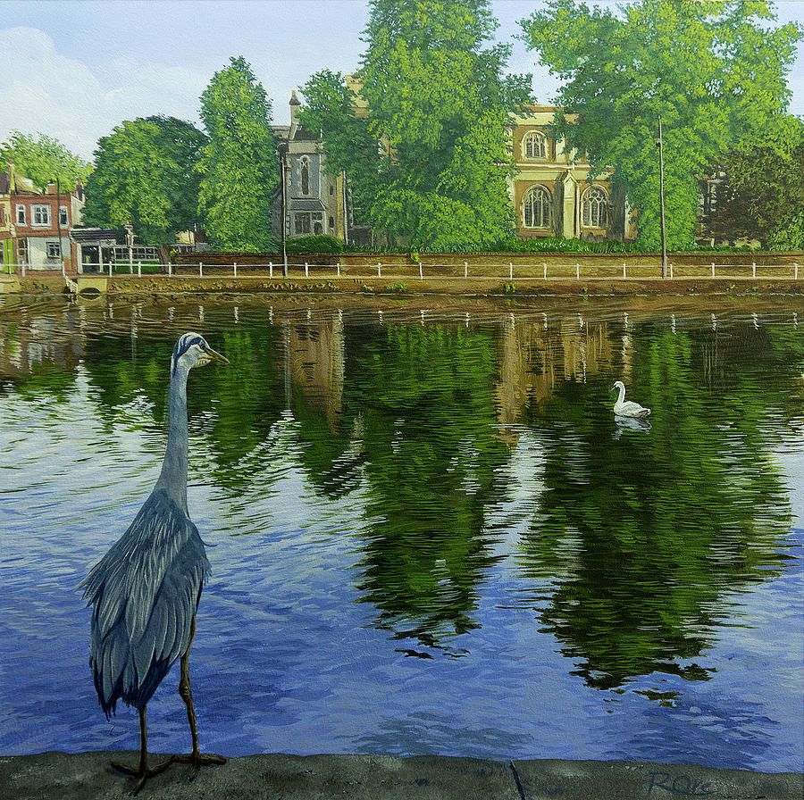 Landscape Painting - See any fish? by Raymond Ore