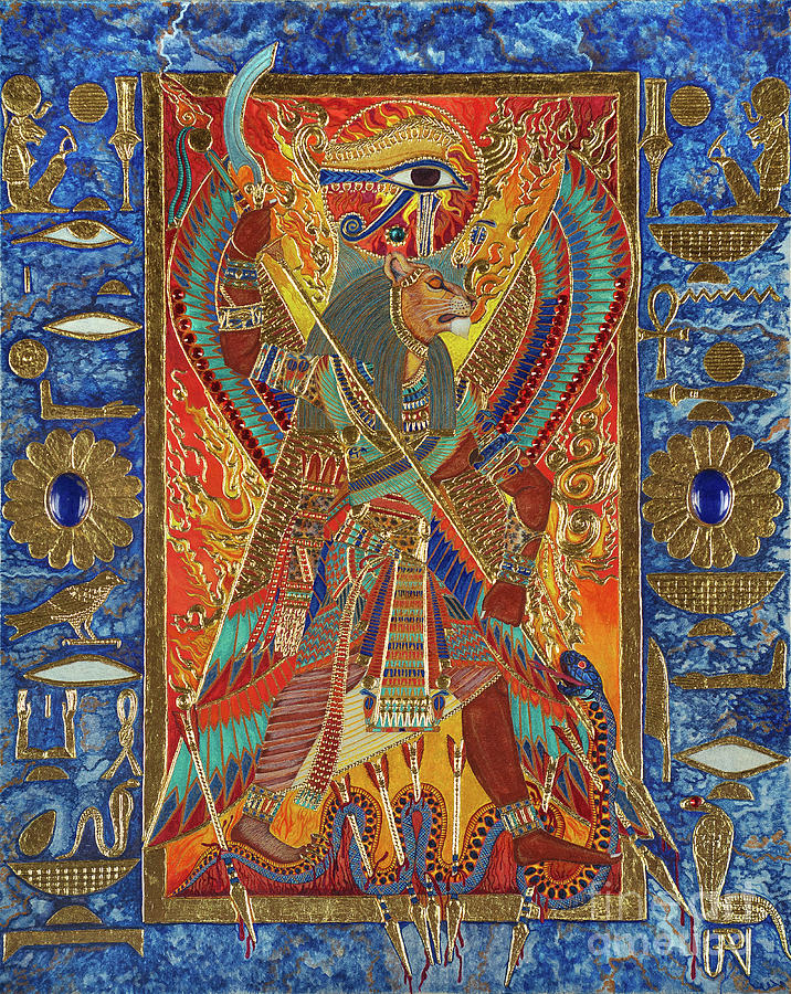 Sekhmet Mixed Media - Sekhmet the Eye of Ra by Ptahmassu Nofra-Uaa