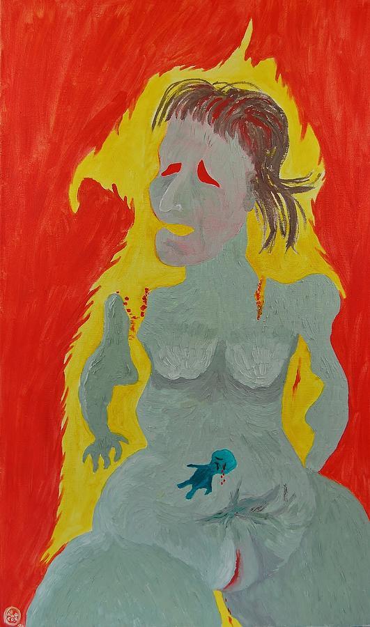 Fear Painting - Self III by Charla Van Vlack