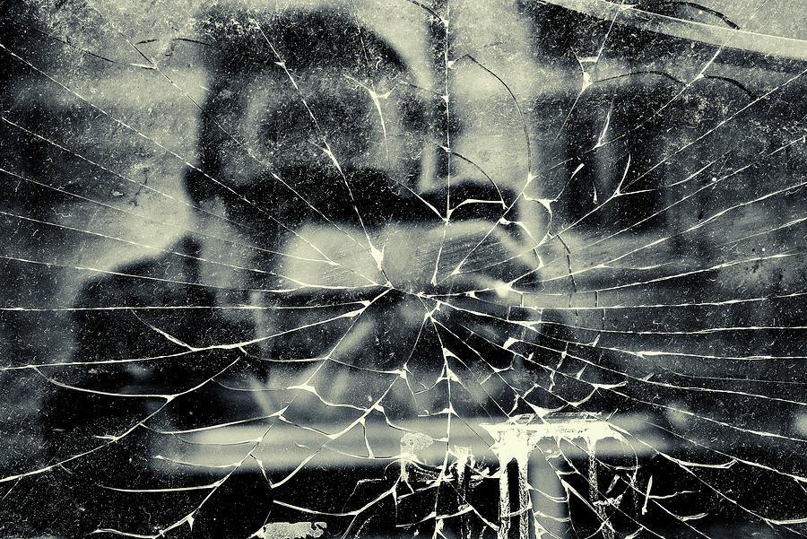 Self Portrait Broken Glass by John Williams
