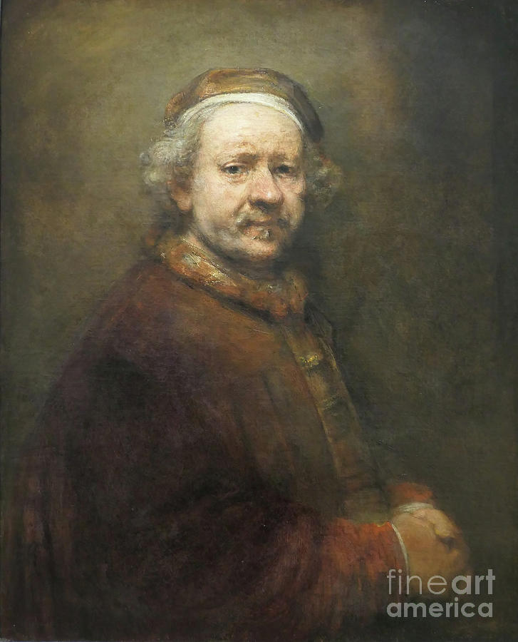 Self portrait of Rembrandt at the end of his life at the age of by Patricia Hofmeester