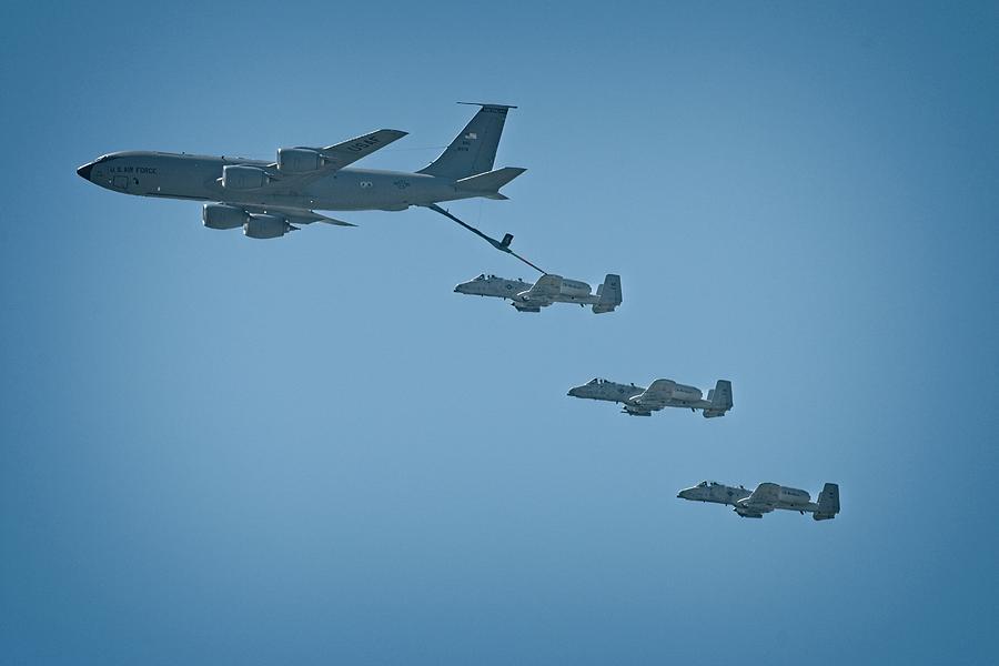 Kc135 Photograph - Selfridge Flyover for Heroes by John Bates