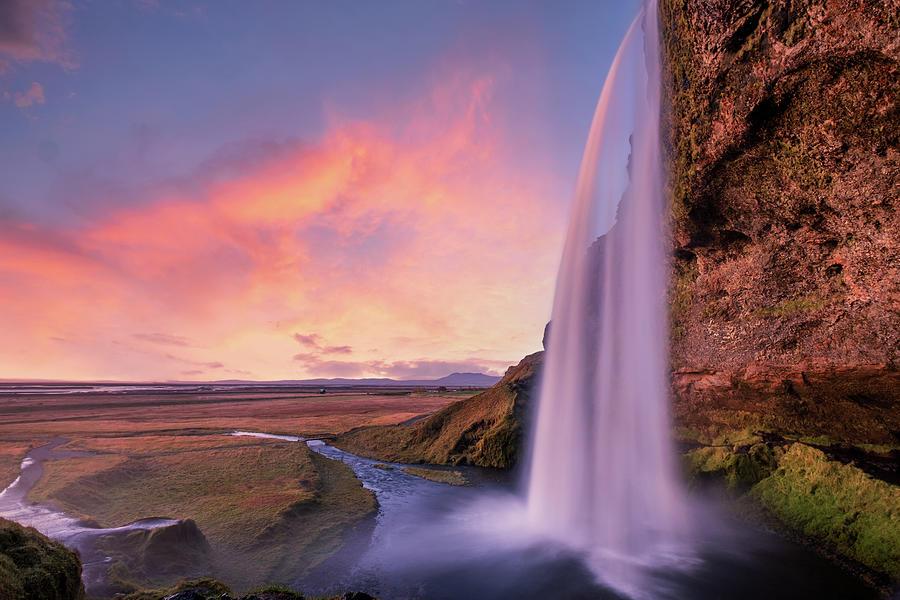 Seljalandsfoss Waterfall Photograph
