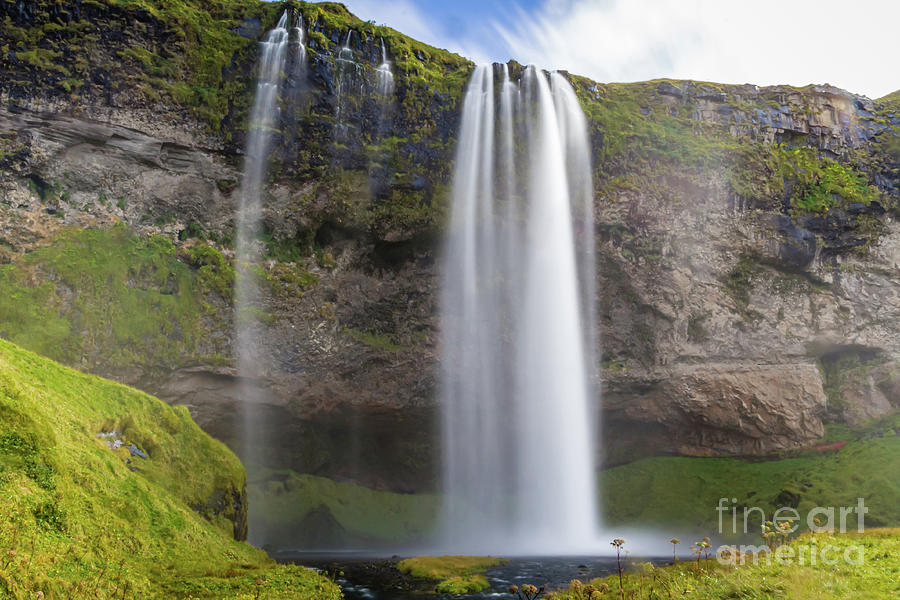 Seljalandsfoss Waterfall, Iceland by Lyl Dil Creations