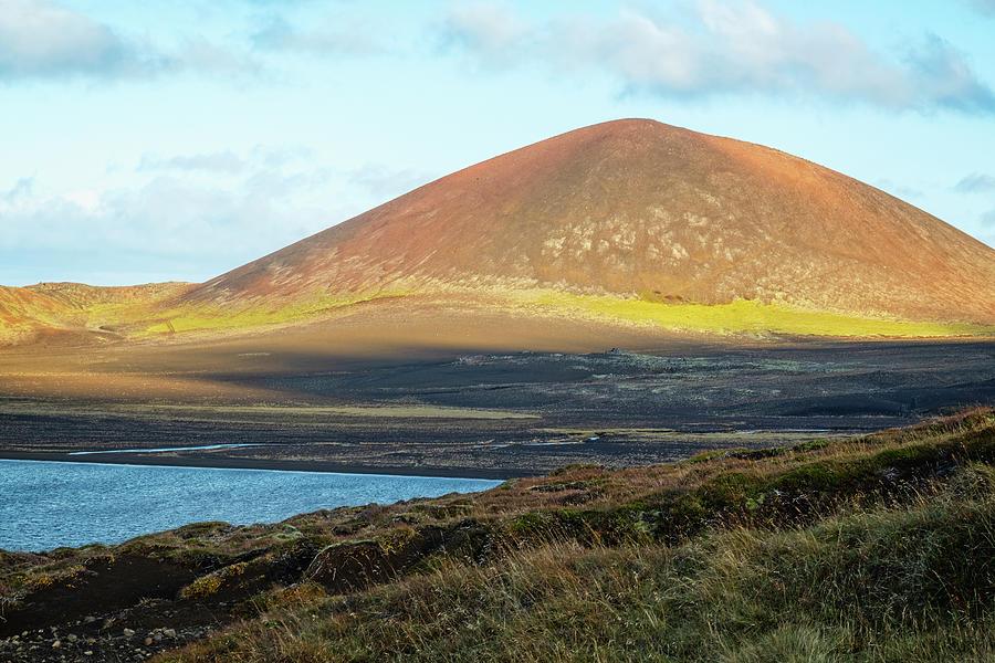 Selvallavatn and Berserkjahraun Lava Field by Catherine Reading