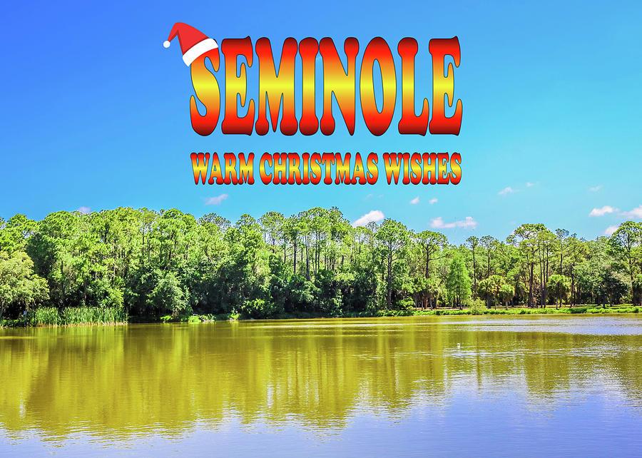 Seminole Christmas Postcard by Robert Wilder Jr