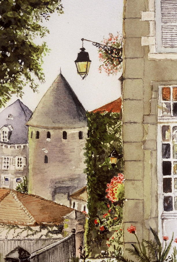 France Painting - Semur en Auxois by Mary Ellen Mueller Legault