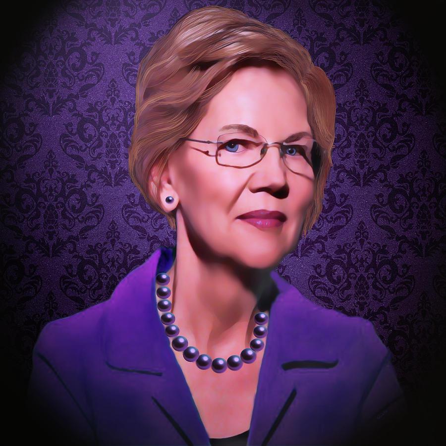 Senator Elizabeth Warren Digital Art