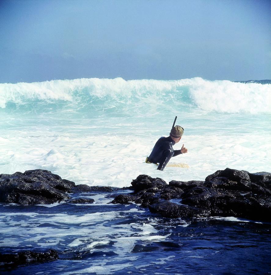 Senator Taylor Pryor, Snorkeling Photograph by Horst P Horst