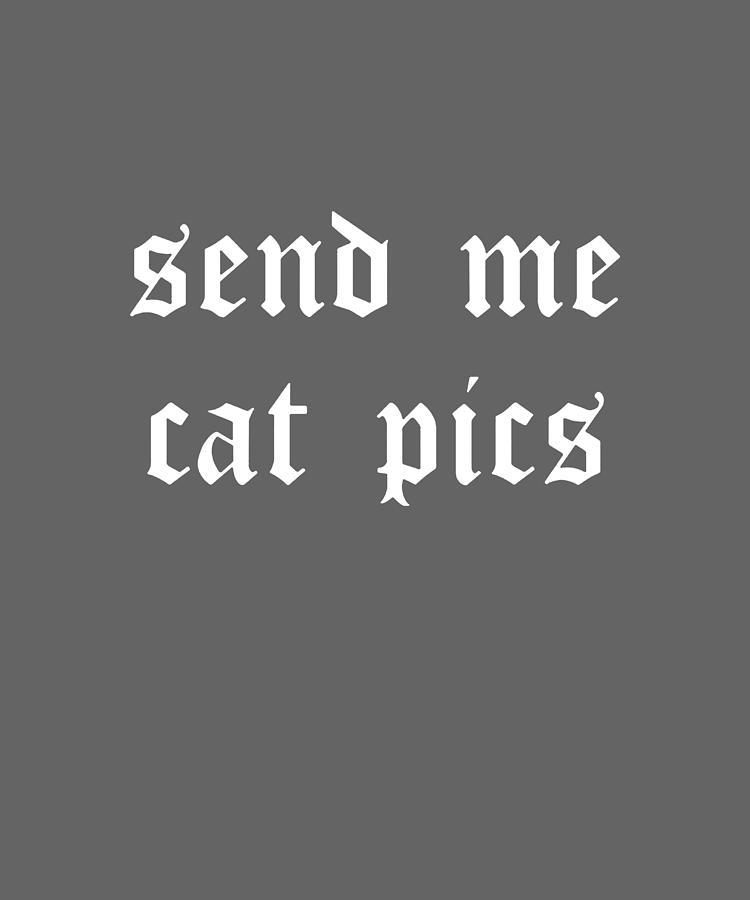 Send Me Cat Pics Ringer Crop Top Goth Womens Tumblr Hipster Cute Kawaii Digital Art By Duong Ngoc Son