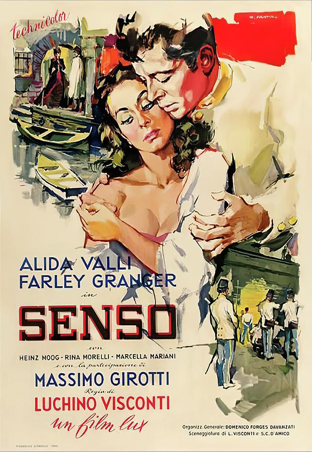 senso, With Alida Valli And Farley Granger, 1954 Mixed Media