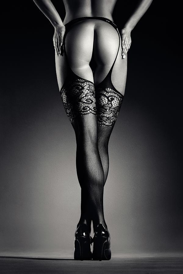 Sensual Legs In Stockings Photograph