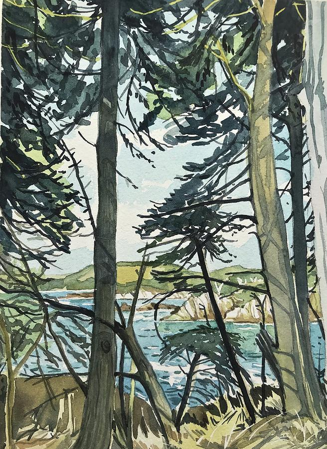 September Afternoon Point Lobos Painting