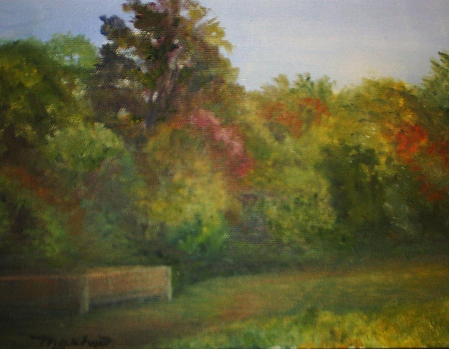 September Painting - September in Smithville Park by Sheila Mashaw