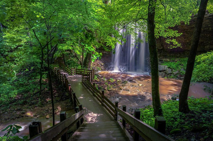 Serene Summer Falls Photograph