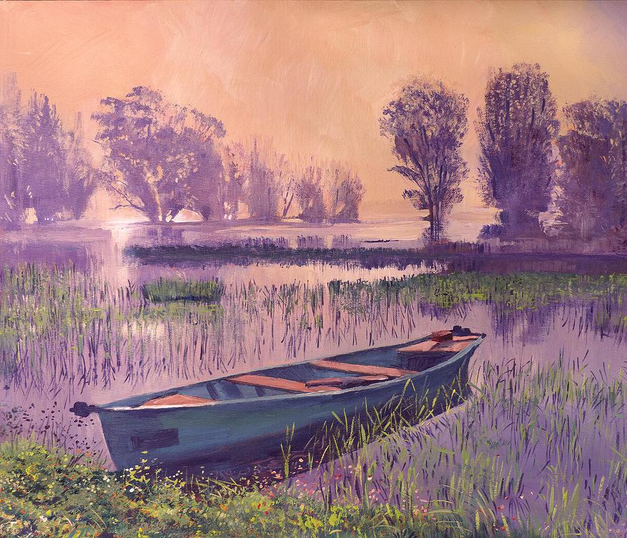 SERENITY AT DUSK by David Lloyd Glover