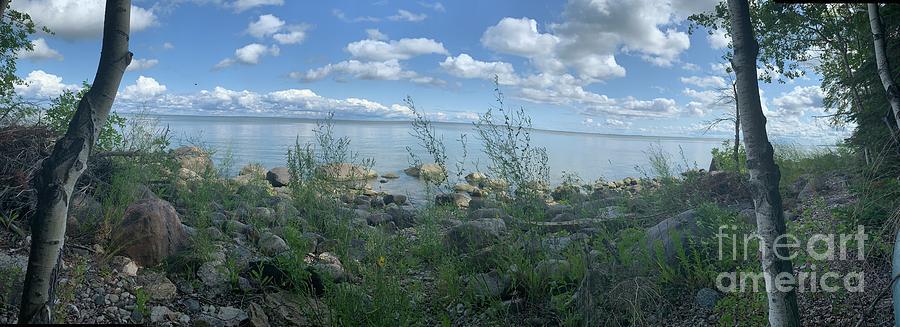 Nature Photograph - Serenity At Lake Winnipeg by Mary Mikawoz