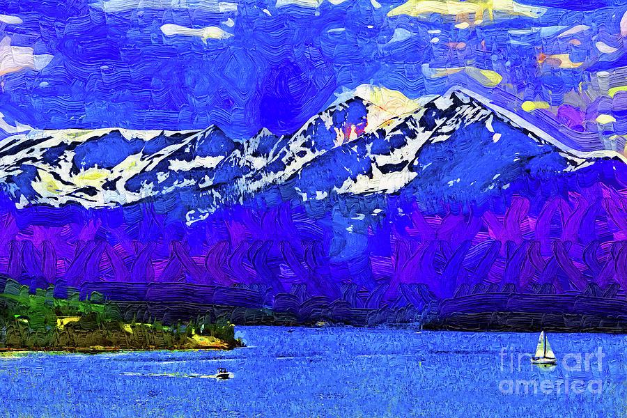 Lake Dillon Digital Art - Serenity Boating On Lake Dillon by Kirt Tisdale