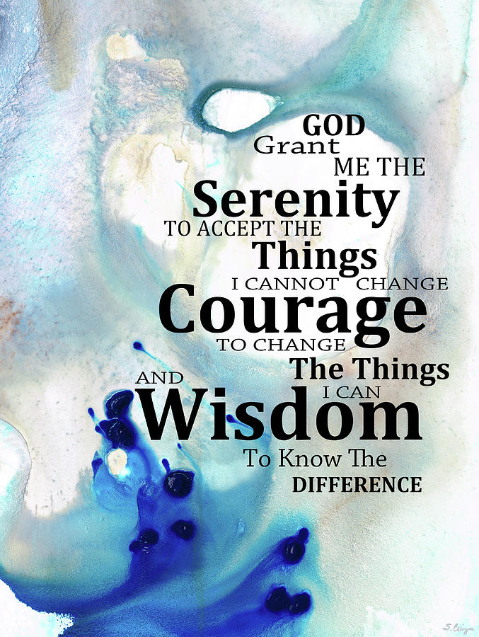 Serenity Prayer Painting - Serenity Prayer - Soothing Art - by Sharon Cummings