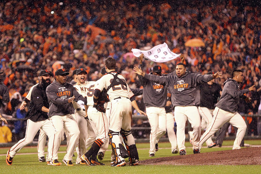 Sergio Romo and Buster Posey Photograph by Christian Petersen