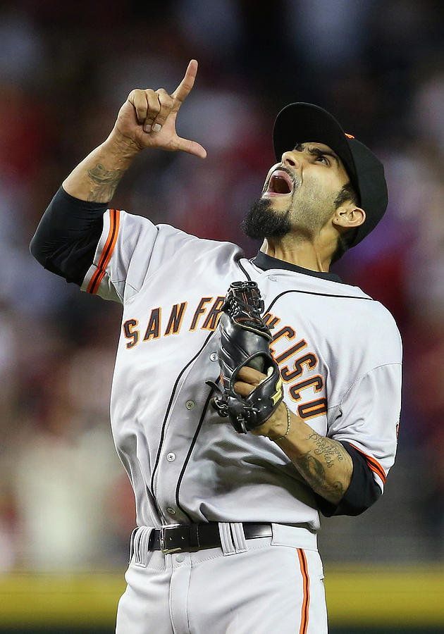 Sergio Romo Photograph by Christian Petersen