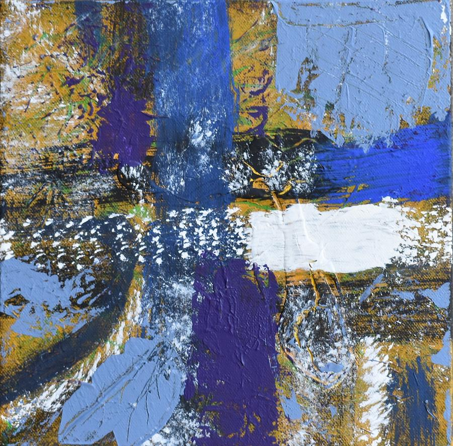 Blue Painting - Series 1 Right Side by Pam Roth OMara