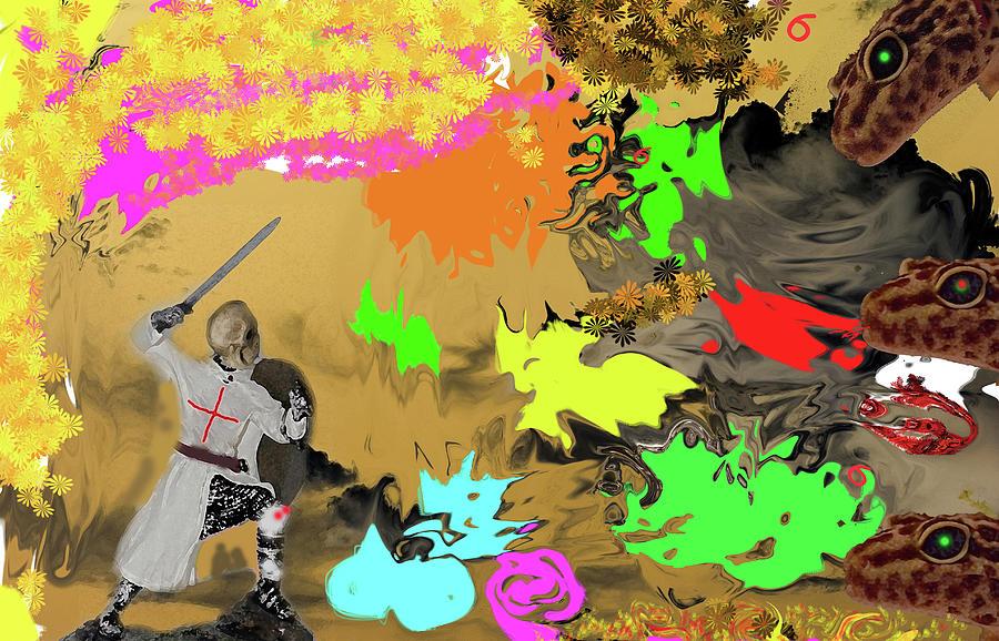 Serpent Knight Digital Art
