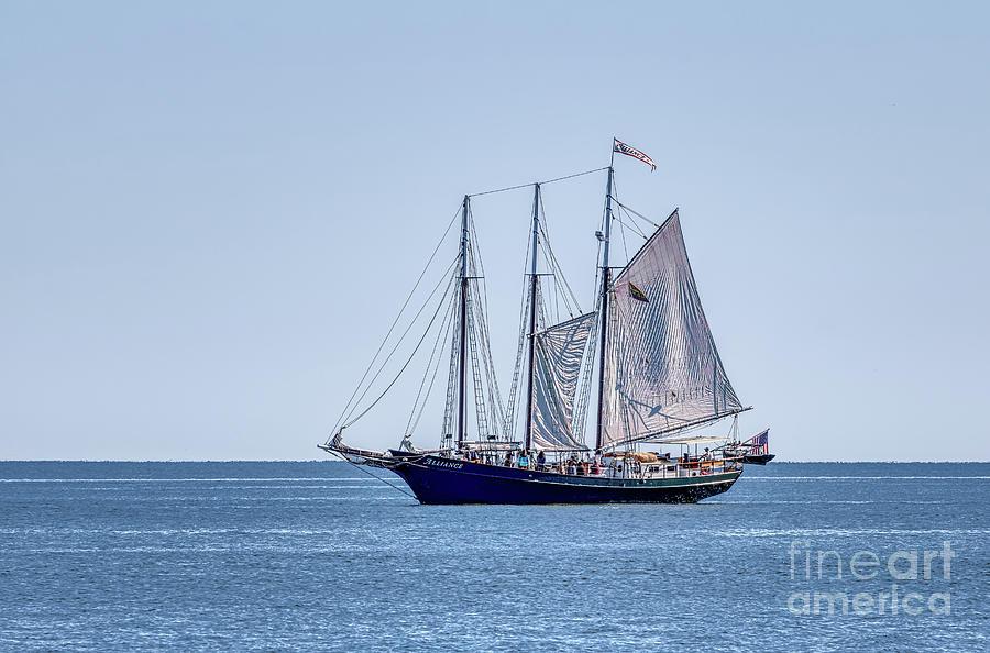 Alliance Photograph - Setting Sail on Blue 2 by Robert Anastasi