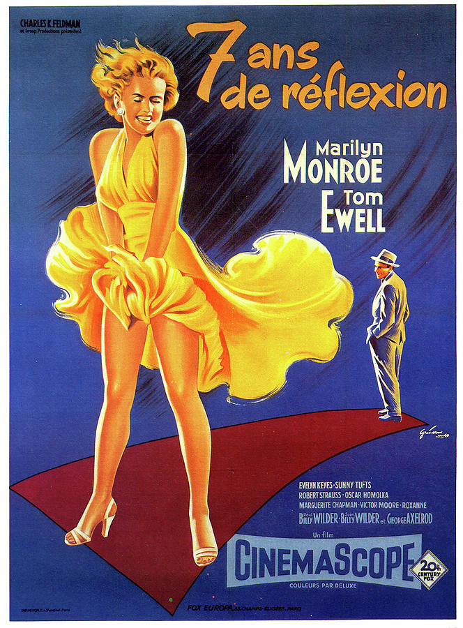 seven Year Itch Movie Poster 1955 Mixed Media