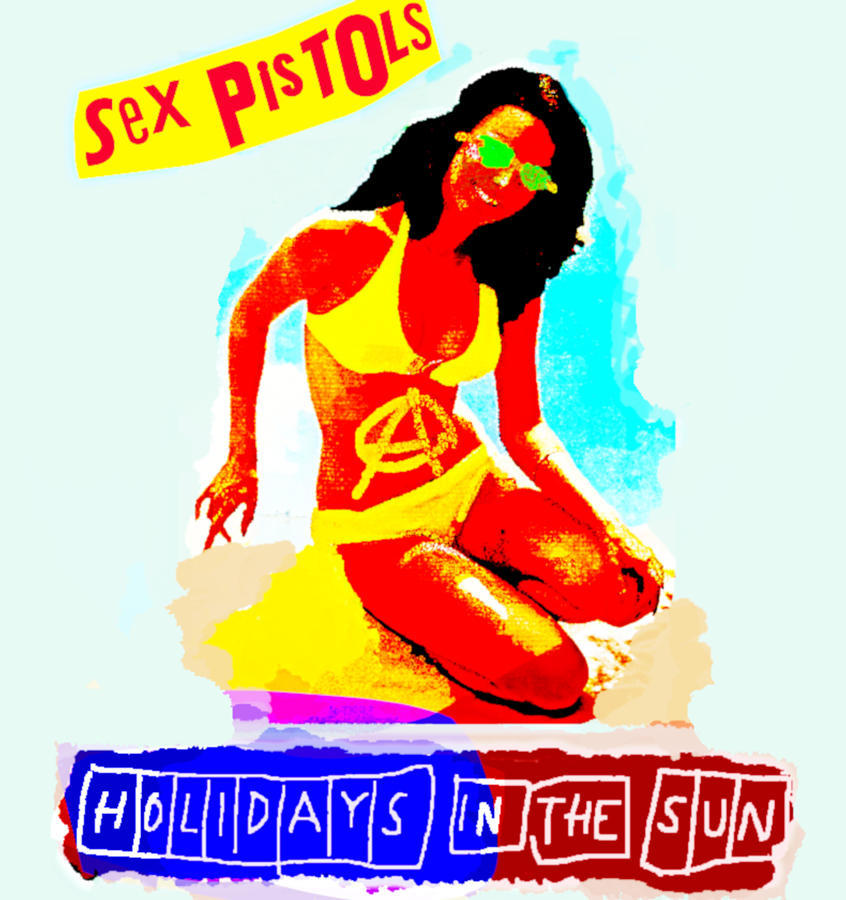 Sex Pistols 1977 Holidays In The Sun Painting