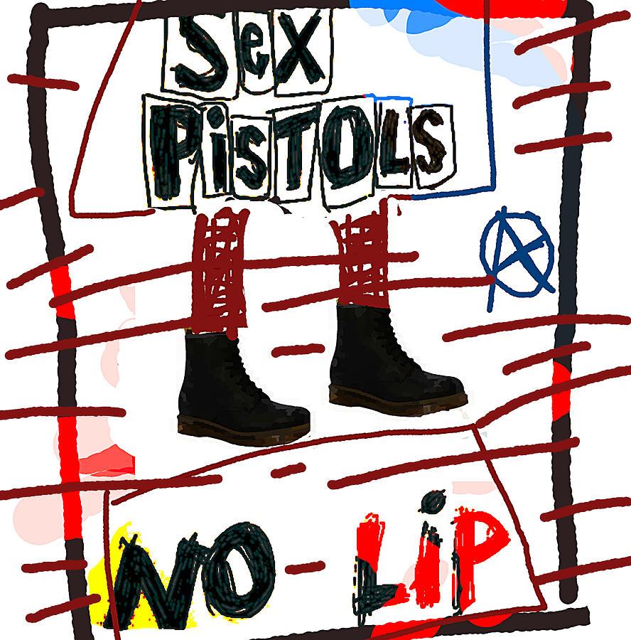 Sex Pistols No Lip 1979 Drawing