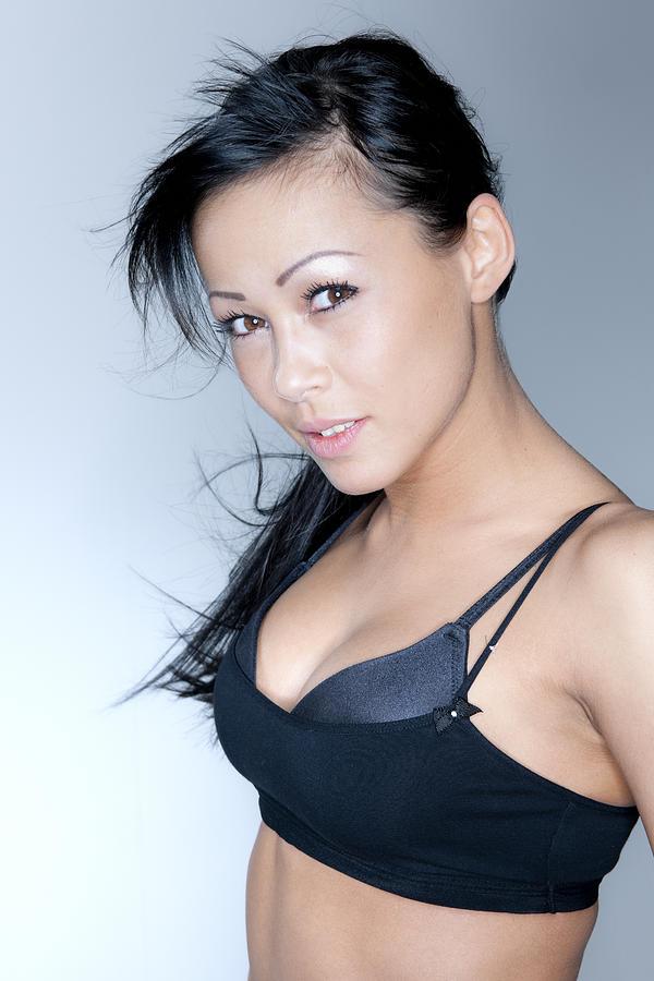 sexy woman in black tank top XXXL Photograph by Pidjoe