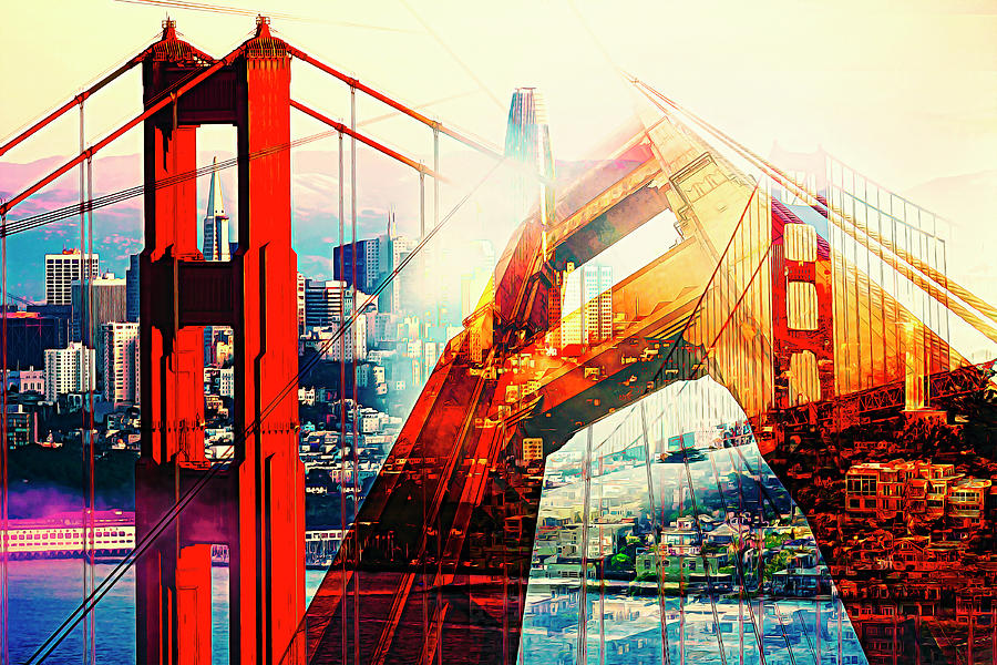 SF Golden Gate by Orenda Pixel Design