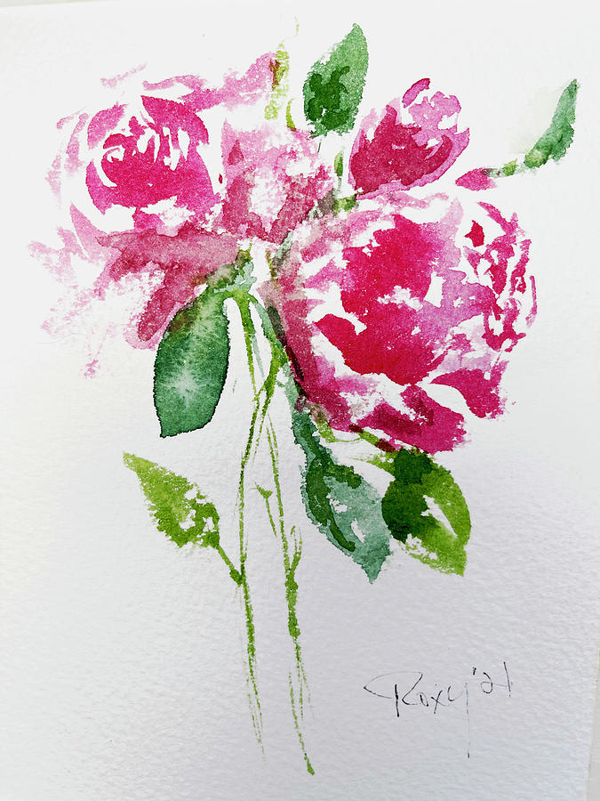 Shabby Pink Roses 2 Painting