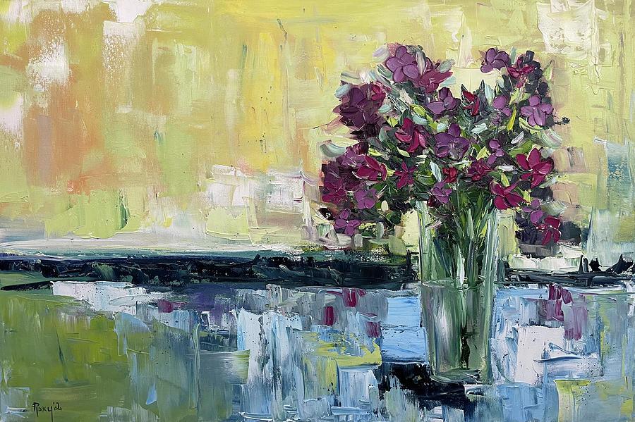 Shabby Wildflowers Painting