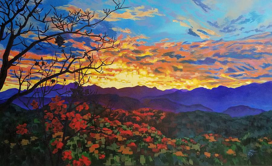 Smoky Mountains Painting - Shaconage by Allison Fox